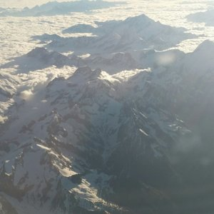 French Alps from plane