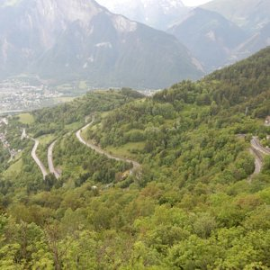 Some Alpe d'Huez hairpins