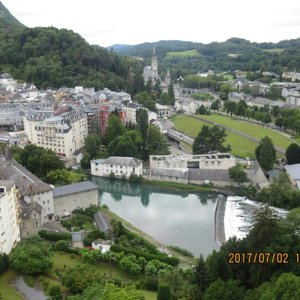 Lourdes viewed from Chateau Fort on high hill